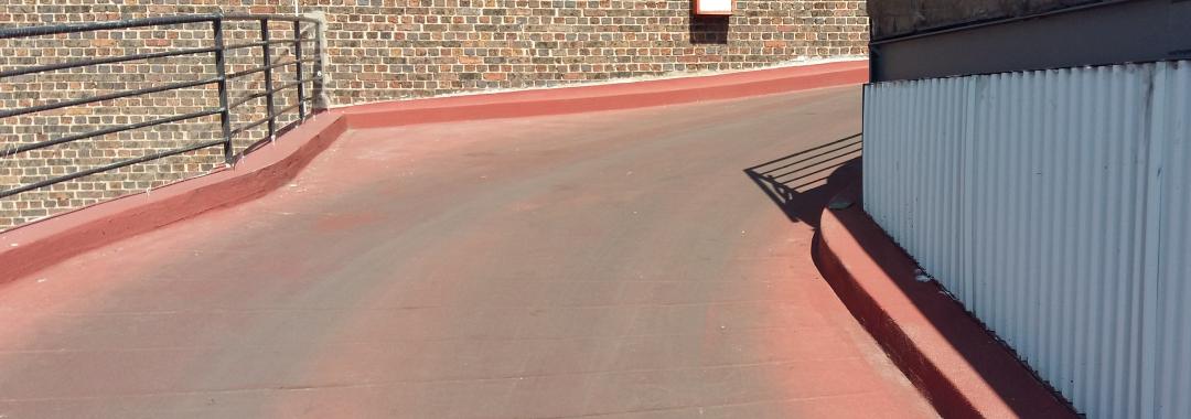 terrasse parking sur asphalte - - waterproofing coating, waterproof coatings, resine etancheite,