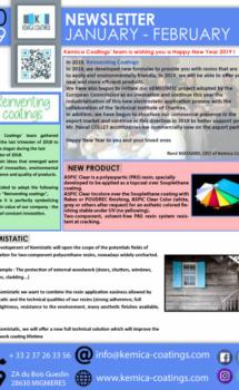 Newsletter KEMICA COATINGS - January - February 2019
