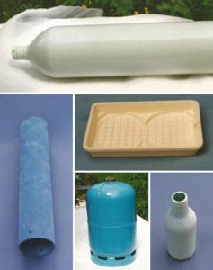 bouteille de plongée - barquette - bouteille de gaz - verre pour parfum - structure métallique